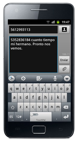 SMS a Cuba desde movil