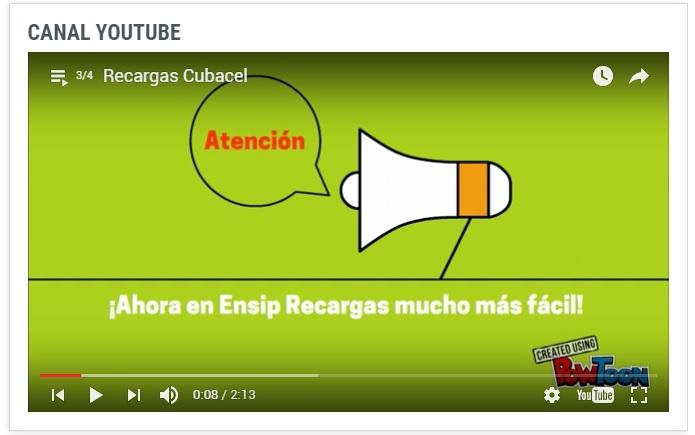 Video tutorial como hacer Recargas Cubacel