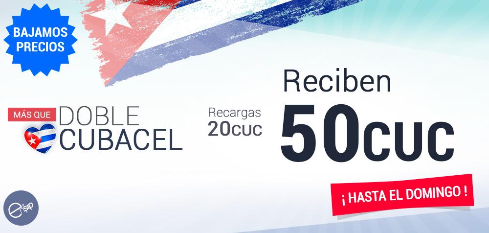 RECARGA CUBACEL MAS QUE DOBLE
