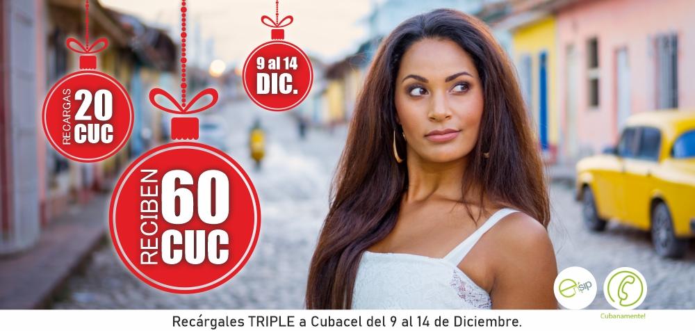 Llama Cuba estas Navidades desde 39 centimos