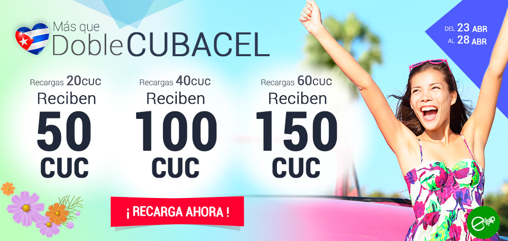 RECARGA CUBACEL DOBLE